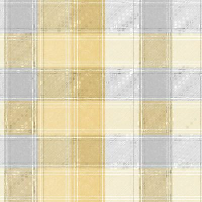 Arthouse Country Check Tartan Pattern 10m Wallpaper In Ochre 902807