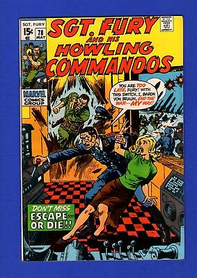 Sgt. Fury And His Howling Commandos #78 Vf+ High Grade Bronze Age Marvel