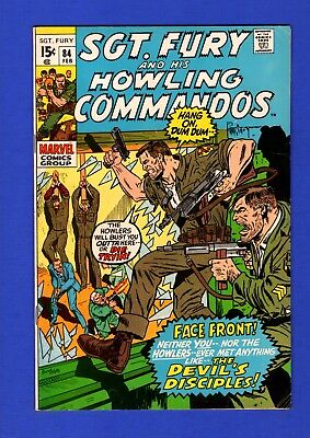 Sgt. Fury And His Howling Commandos #84 Vf High Grade Bronze Age Marvel