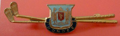 """Vintage Early Golf Club Member Pin: DUNDEE GOLF CLUB;""""C"""" Clasp Design"""