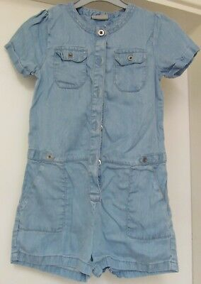 Girl's Blue denim look playsuit. matalan. Age 7years.