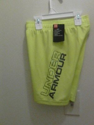Nwt  Under Armour Boy's Kick Off Solid Shorts Size 6