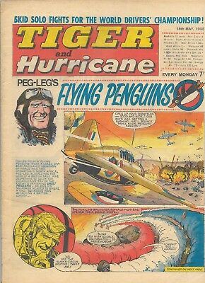 TIGER and HURRICANE comic 18/5/68 Typhoon Tracy, Skid Solo, Saber, Johnny Cougar