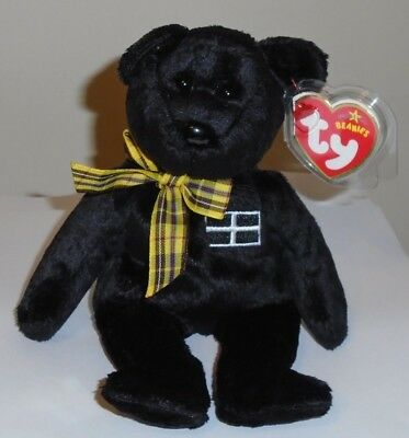 Ty Beanie Baby ~ KERNOW the Bear (UK Exclusive) MWMT