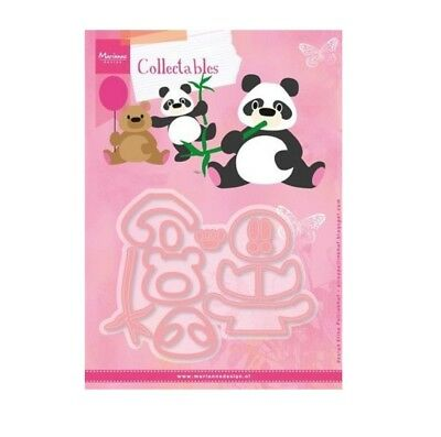 Eline's Bear and Panda Metal Die Cut Set Marianne Cutting Dies COL1409 Animals