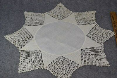 doilies  crochet large  white  scalloped table cloth 18 in. hand made original