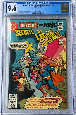 Cgc 9.6 Secrets Of The Legion Of Super-Heroes #3 .. Superboy .. Last Issue ..