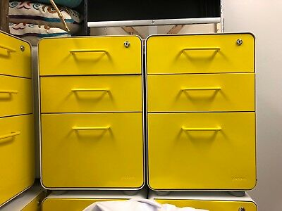 Poppin Brand Filing Cabinets- slightly used, sold separately, 25 units total