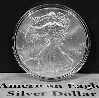2014 American Silver Eagle BU 1 oz Coin US $1 Dollar Mint Uncirculated Scratched