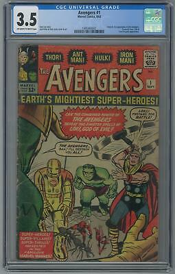 Avengers #1 CGC 3.5 (OW-W) Origin & 1st appearance of the Avengers.