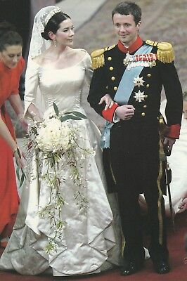 PRINZESSIN MARY-PRINZ FREDERIK-Adel-ROYAL WEDDING-2004-ORIGINAL POSTKARTE
