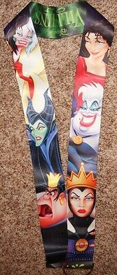Disney Villains Villain Reversible Pin Lanyard 2 inches wide Maleficent Hades