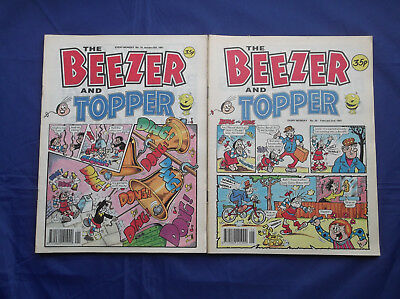 The Beezer and Topper comic x 50 Nos. 16-65 inclusive - January-December 1991