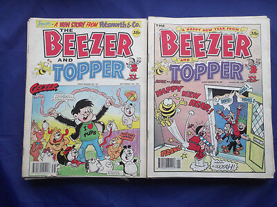 The Beezer and Topper comic x 39 Nos. 68-102 inclusive - January-September 1992