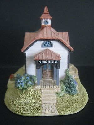 Lilliput Lane SMALL TOWN LIBRARY American Landmarks 1992 Sculptor Ray Day SIGNED