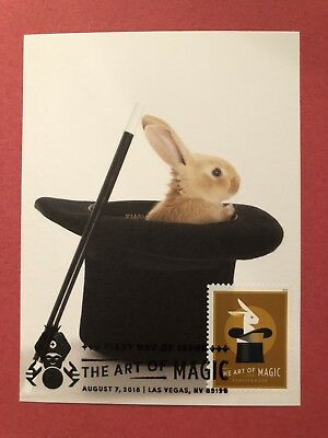 Maxi-card 2018 The Art Of Magic Rabbit In Top Hat FDOI First Day Issue