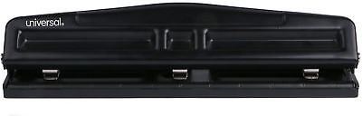 Universal 12-Sheet Deluxe Two- & Three-Hole Adjustable Punch, 9/32 In. Holes