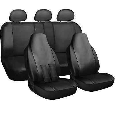 Seat Cover Complete Set for Car Truck SUV Van - PU Leather - 10 Piece