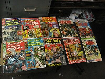 10 Diff Silver & Bronze Age Sgt. Fury and his Howling Commandos Comic Books