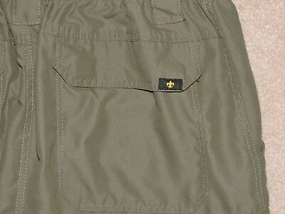 BOY SCOUTS OF AMERICA Men's 100% Nylon Convertible Caroge Pants/Shorts Olive MD