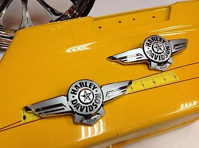 NEW Genuine OEM Harley Softail Fatboy Touring Gas Fuel Tank Emblems
