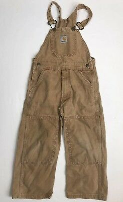 Youth Carhartt Bib Overalls Canvas Size 5 Boys Or Girls EUC