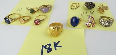 42  gram lot  10k 14k 18k  gold rings earrings pendant scrap or not all test