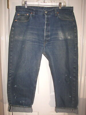 Mens LEVI'S Vintage 501 Jeans Red Line Selvedge Single Stitch Great Look 40 X 30