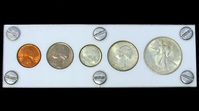 1946 Silver US Mint Year Set in Protective Holder - 5 Coins - UNC/BU or Better