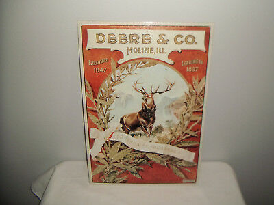 John Deere 50 Years Of Progress 1847-1897 Deere & Co. Moline, Ill. Metal Sign