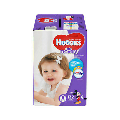 HUGGIES Little Movers Diapers, Size 5, 132 ct
