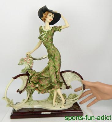 "RARE Florence Giuseppe Armani ""Bicycle - Spring"" Female Figurine 15"" Sculpture"