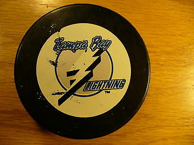 NHL Tampa Bay Lightning '92 Logo Official Game Hockey Puck Check My Other Pucks