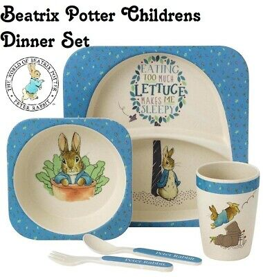 Beatrix Potter 5 Piece Peter Rabbit Organic Echo Friendly Dinner Set