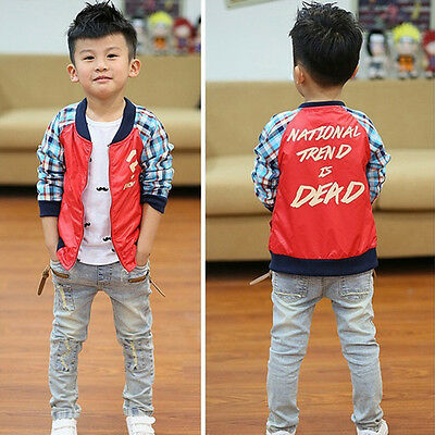 2-7 Y Denim Children Boys Cool Jeans Strench Skinny Trousers Patch Fashion Pants