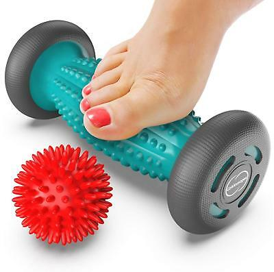 Foot Massager Roller + Ball for plantar fasciitis - Total Relief for Heel Spurs