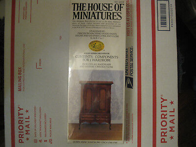 Vintage The House Of Miniatures X-Acto Collectors Queen Anne Wardrobe #40058