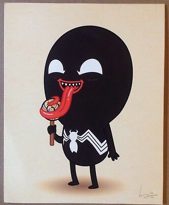 JLU Venom Mike Mitchell Limited Edition Numbered Signed Print Candy from a Baby