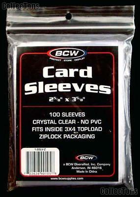 1 Pack (100) BCW High Quality Penny Card Sleeves