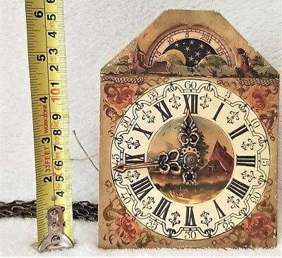 Warmink Wall Clock Movement 8 Day Dial Pendulum Chains Moonphase