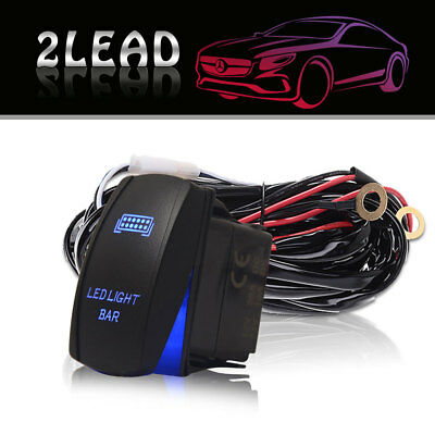 12ft 40A Power Switch LED Light Bar Wiring Harness or 12V 4x4 Relay Kit Offroad