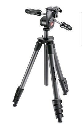 Manfrotto Compact Advanced Tripod with 3-Way Head (Black) MKCOMPACTADV-BK #WT1