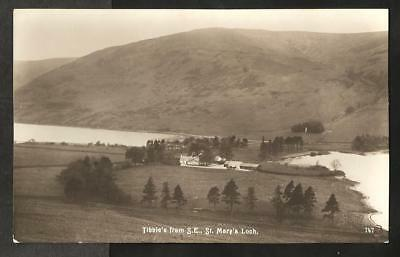 KCO Early Edwards of Selkirk Postcard, Tibbie's from S.E. & St. Mary's Loch