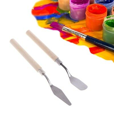 2Pcs Stainless Steel Palette Knife Spatula Scraper for Mixing Oil Art Painting