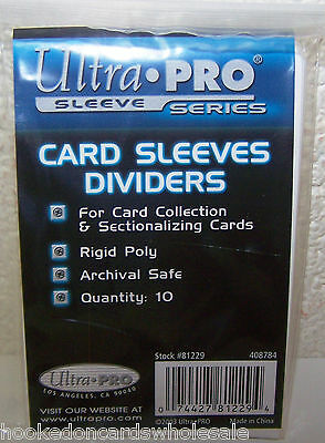 3 packs (30) Ultra Pro Trading Card Dividers