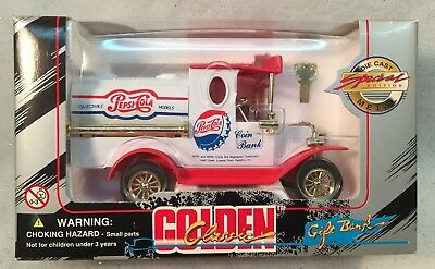 Golden Classic Special Edition Die Cast Metal PEPSI COLA Truck Coin Bank NIB