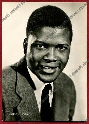 SIDNEY POITIER 04  ATTORE ACTOR ACTEUR CINEMA MOVIE STAR Cartolina REAL PHOTO