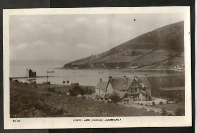 LJZ Early Steen Postcard, Hotel & Castle, Lochranza, Isle of Arran