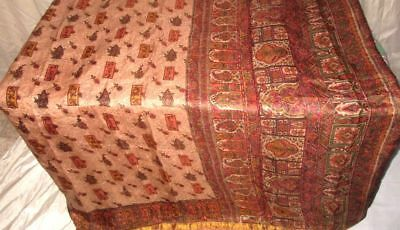 Coffee Maroon Pure Silk 4 yard Vintage Sari Saree HOT BARGAIN DEAL Lady #9A296