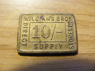 A Williams Brothers Direct Supply 10 Shillings Token- nice Condition, 24mm Long
